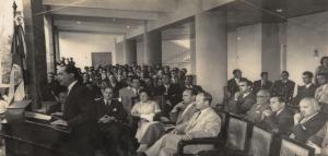 Lic Rodrigo Facio. 4 marzo de 1957. Archivo UCR.